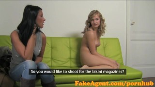 Fakeagent fucked amateurs hard in interview two hot casting smoking amateur couch