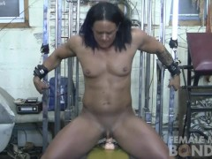 Goddess of Iron and Her Big Clit Tied Up
