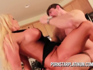 PornstarPlatinum – Alura Jenson fucking in the kitchen