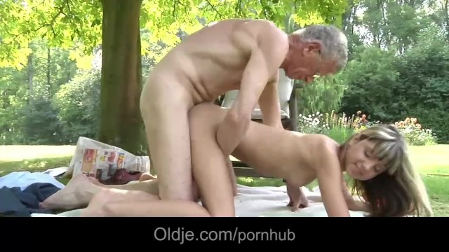 Oldman fucks nasty and sexy blonde Gina Gerson