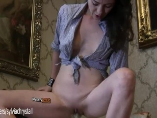Pornhub Fetish.Amateur Beauty Young Milf Glass Vibrator-Sylvia Chrystall HD