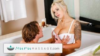 Geweldige porno - Nuru Massage - Nina Elle Nurumassage-Moeder Geeft Stiefzoon Een Heel Gelukkig Einde