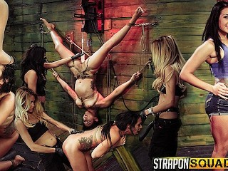 FetishNetwork Isa Mendez rope suspension main image