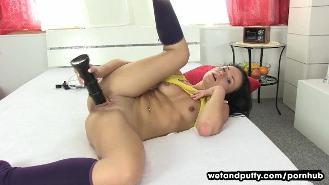 Huge Black Dildo Orgasm