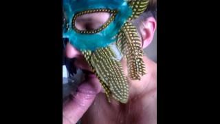 Superbe éjaculation masquée