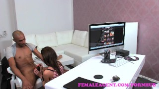 FemaleAgent. Sexy teasing agent puts studs big cock skills to the test