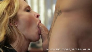 Wicked - Hot Milf Jessica Drake loves cock Cum swallow