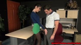 Office Fantasy with Dava Foxx FAKE TITS SLUT FUCKED  big tits hypno blowjob fucking fetish hardcore pantyhose kink sex leotard sweetfemdom big boobs fake tits