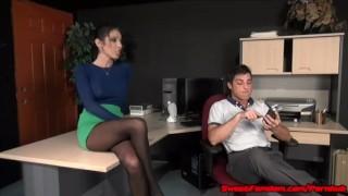 Office Fantasy with Dava Foxx FAKE TITS SLUT FUCKED hardcore sex pantyhose kink big tits blowjob fucking big boobs hypno leotard fetish fake tits sweetfemdom