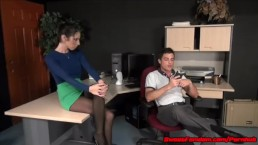 Office Fantasy with Dava Foxx FAKE TITS SLUT FUCKED