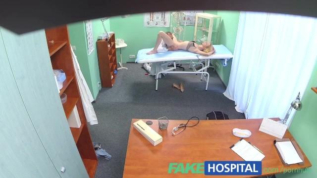 Voyeur doctors office cam Fakehospital doctors oral massage gives skinny blonde her first orgasm in y
