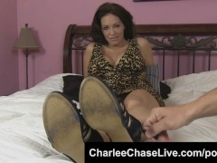 Big Tit Tampa MILF Charlee Chase Gets a FootRub and Cock!