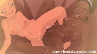 Disney Princess hentai - Tiana meets Charlotte  parody teen hentai disney dildo princess anime young lesbian cartoon fingering girl on girl drawnhentai tiana charlotte shaved pussy