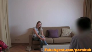FakeAgent Sporty babe with great physique gets fucked hard before facial  office sex point of view homemade audition amateur cumshot pov casting couch real reality fakeagent interview oral sex