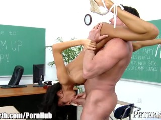 Kayla Sucks Dick Fucking, Peter North Gives it to Horny Latina Student