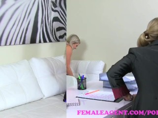 Preview 6 of FemaleAgent. MILF agent strikes a deal with desperate sexy pole dancer