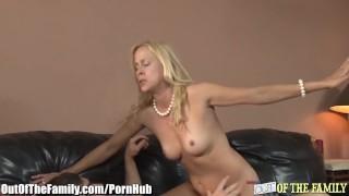 Fucks blonde daughters bf mom blonde cumshot