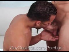 HD - GayCastings Amateur latino with nice butt comes to porn audition