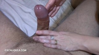 Sensual Cock Massage Green an