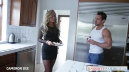 Blonde cutie Cameron Dee taking a large dick