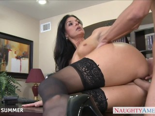My Boyfriend Fingered My Ass Stockinged India Summer Fucking On The Desk