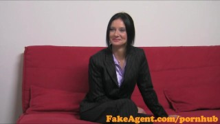 Preview 3 of FakeAgent Hot mature teacher loves getting spanked and fucked in Casting