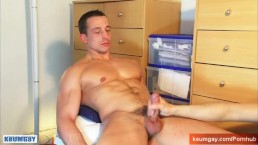 Full video: testing his huge cock (Eric a real str8 guy.)