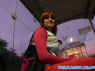 PublicAgent Stunning redhead takes it from behind in public
