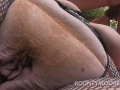 BBW Dawn BDSM Leash and Stocking Fuck