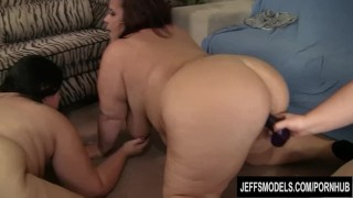 5 fat girls get it on  orgy lesbian jeffsmodels fat ass group sex big tits plumper bbw chunky chubby fat