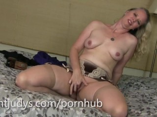 Wild Mom Porn Tube Mature Catherine Strips and Pleasures Herself