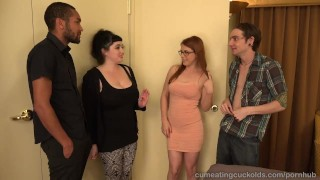 Penny Pax And Her Husband Share A Big Black Cock 3some cock sharing handjob masturbation bisexual blonde blowjob cuckold cleanup cumeatingcuckolds cumshot glasses threesome interracial reverse cowgirl brunette cuckold petite facial