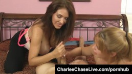 Big Tit Tampa MILF Charlee Chase Jerks a Big Cock with a Horny Teen!