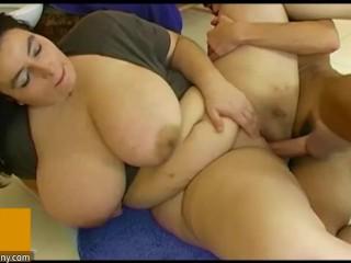 Young boy with big dick fucks big fat mature