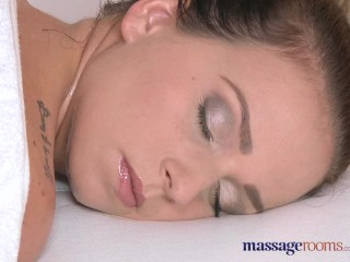 Preview 4 of Massage Rooms Teen with plump round bum gets a good hard fucking