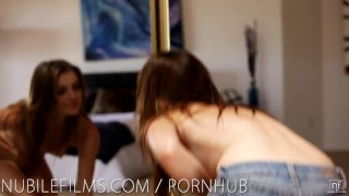 Preview 1 of Nubile Films - Hot lesbians scissoring