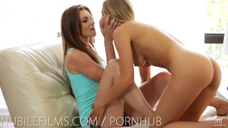 Preview 3 of Nubile Films - Hot lesbians scissoring