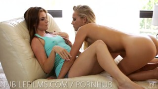 Preview 4 of Nubile Films - Hot lesbians scissoring