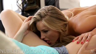 Preview 5 of Nubile Films - Hot lesbians scissoring