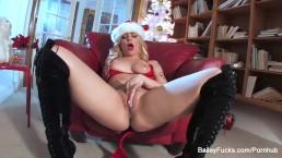 Dahlia Sky's Christmas Masturbation