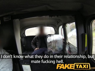 Preview 2 of FakeTaxi Cabbie gets his dick sucked by blonde and brunette
