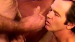 Mature straight dude receives facial