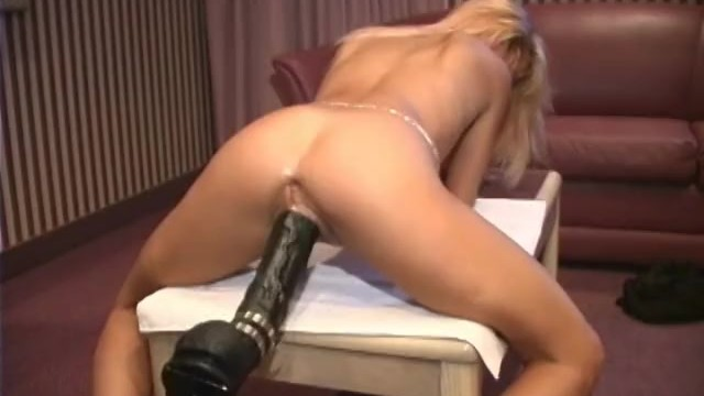 Brutal sissy dildo fucking - Petite french blonde demolished by a brutal dildo machine