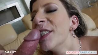 Busty milf Sara Jay gets facialized