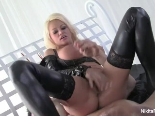 Nikita Von James gets fucked with a big white cock