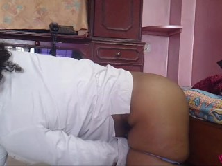 Indian desi bent over with dildo