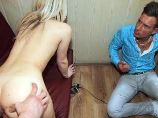 Make him cuckold - cuckold revenge from sexy blonde
