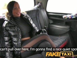 FakeTaxi Ass licking lady earns extra Christmas cash