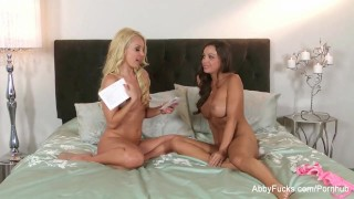 Abigail blonde a with hot plays mac busty oral