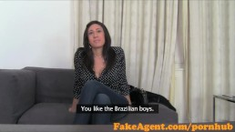 FakeAgent Horny mistress loves taking big cock up her ass in Casting